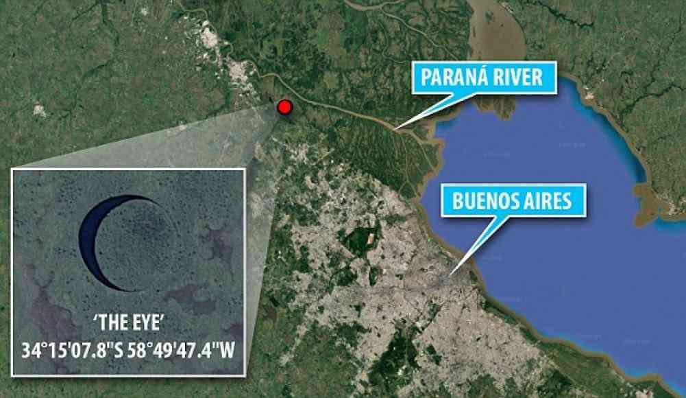 ilhacapa O olho   O mistério da ilha redonda na Argentina