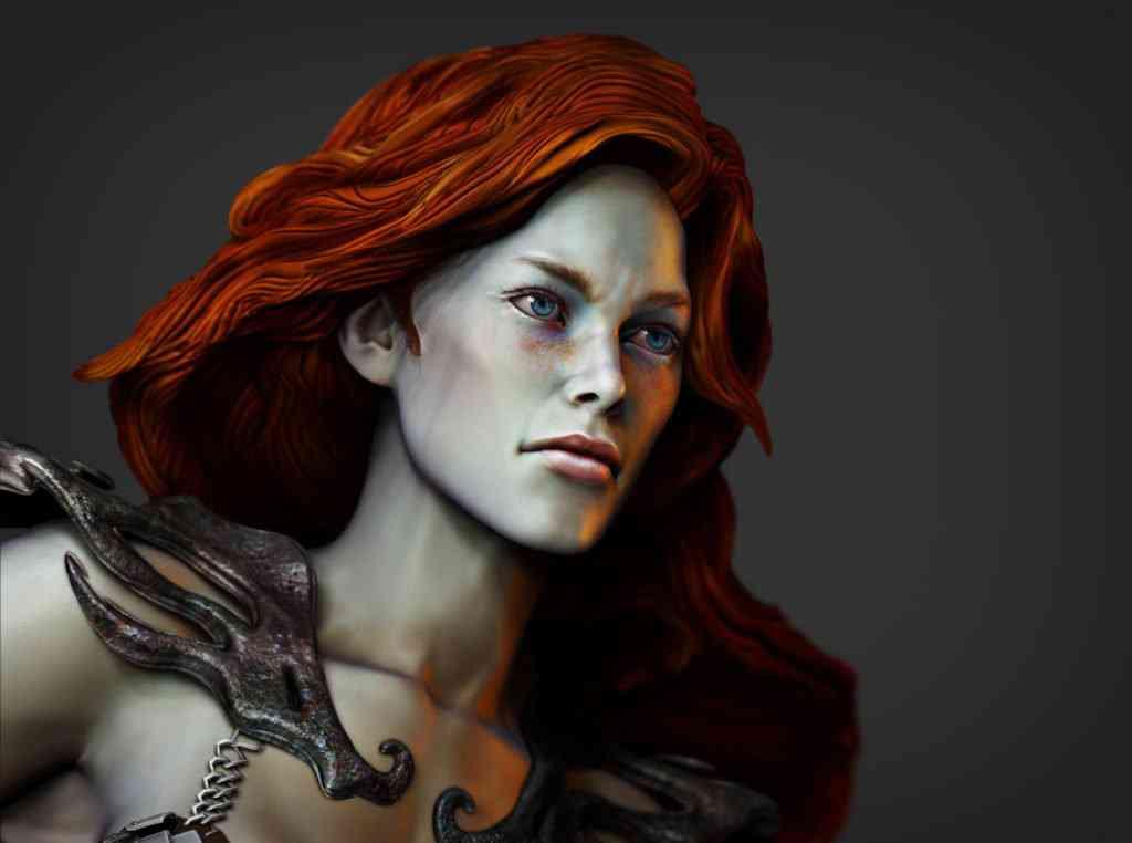 SOnja8 1024x762 Red Sonja   Mais uma escultura