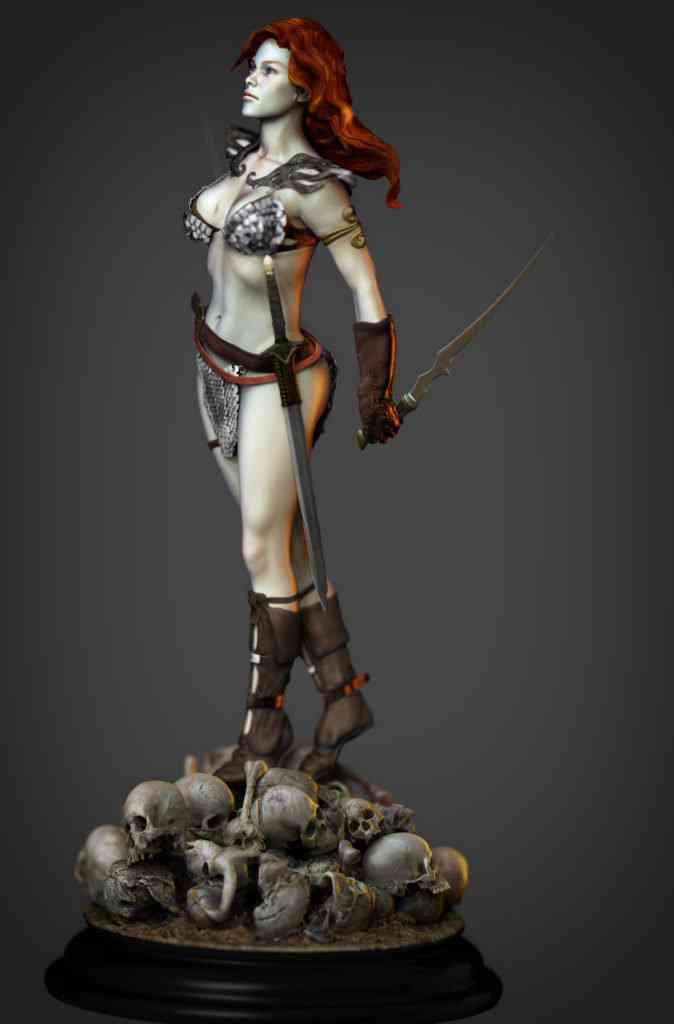 Sonja7 674x1024 Red Sonja   Mais uma escultura