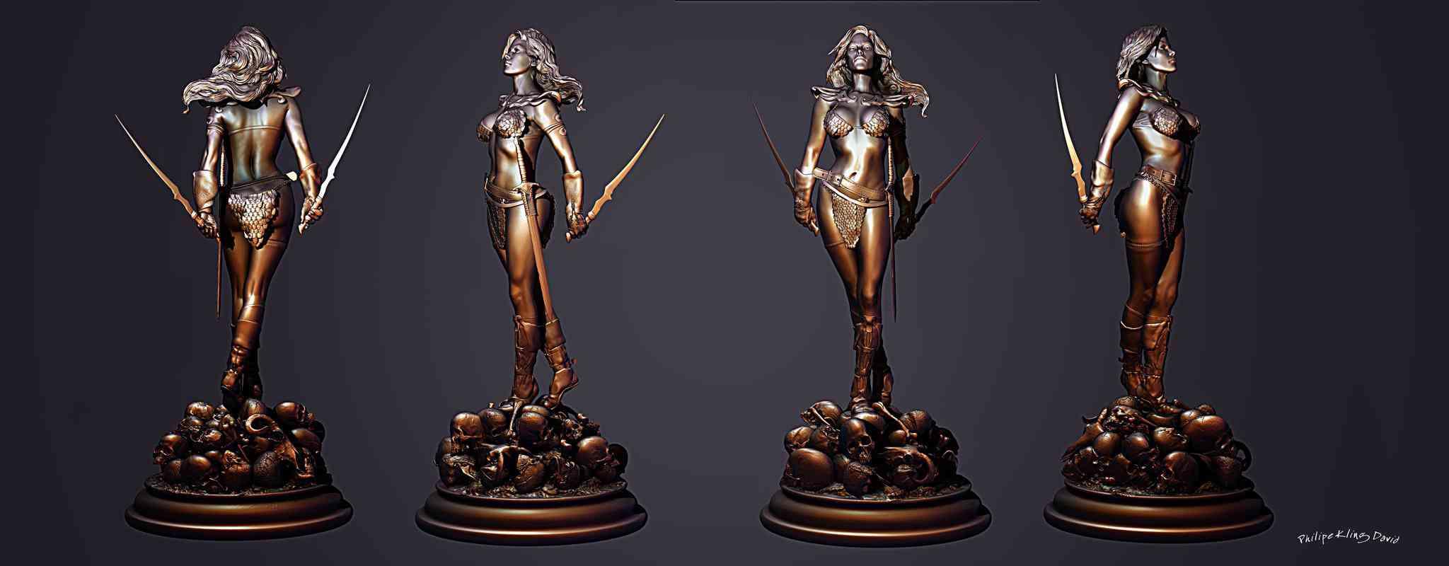 sonjmodel3dLo Red Sonja   Mais uma escultura