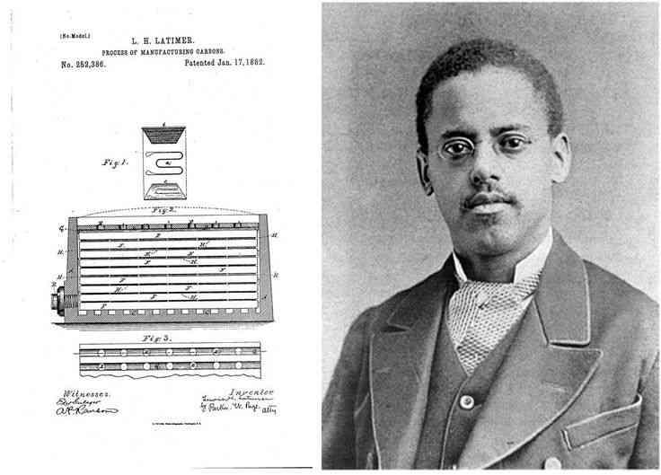 9a76808aa5c9ba4c1117e8575f054dd3 lewis howard latimer lightbulbs Edison não inventou a lâmpada