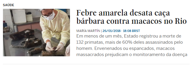 Notícias sobre Febre amarela EL PAÍS Brasil 1 A saga do bebê diabo