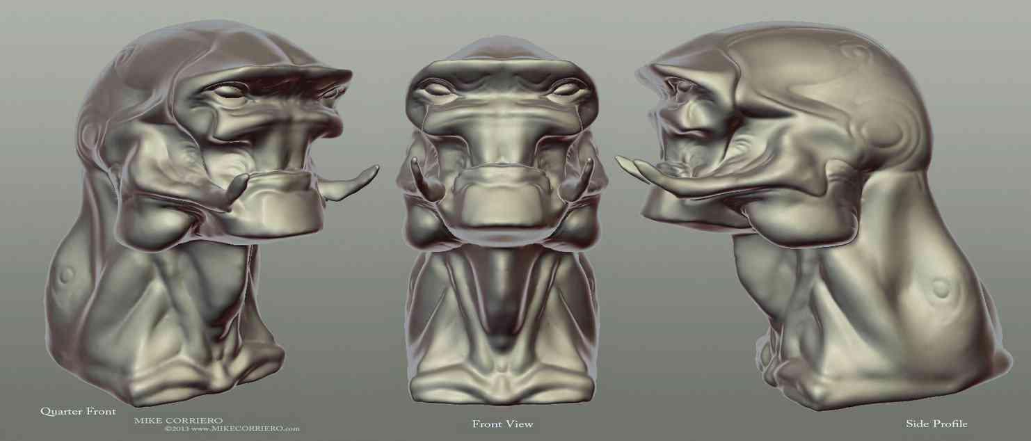 Alien Sculpt 02 MikeCorriero 2013 web Ultra gump blaster mega pack ultimate post de monstros 6