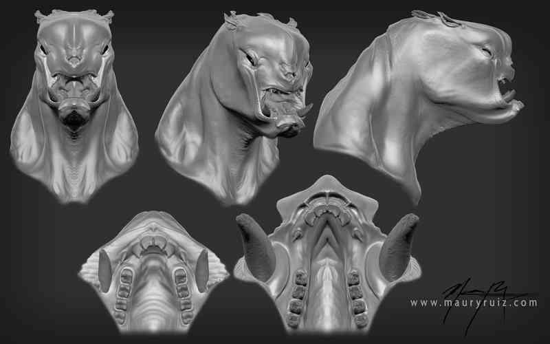 Creature  Bust MauryRuiz Ultra gump blaster mega pack ultimate post de monstros 4