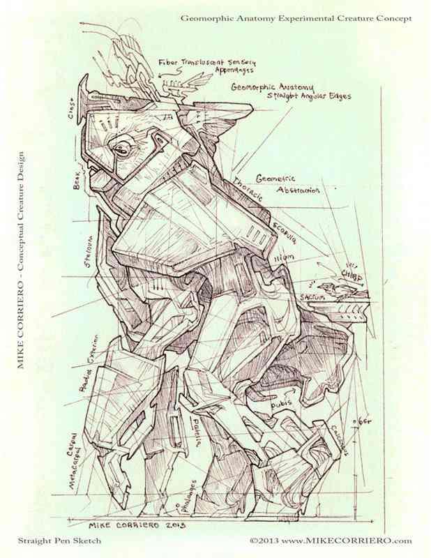 Geomorphic Creature Anatomy mike corriero 2013 web Ultra gump blaster mega pack ultimate post de monstros 2