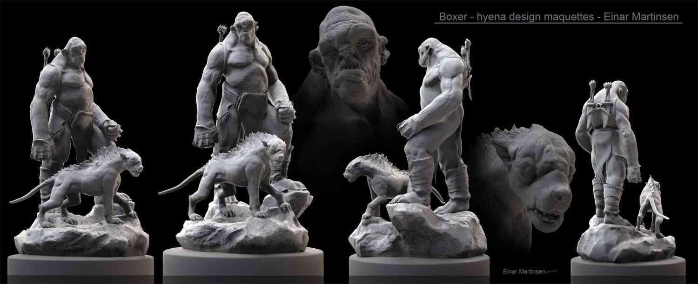 boxer hyena maquettes 01 Ultra gump blaster mega pack ultimate post de monstros  5