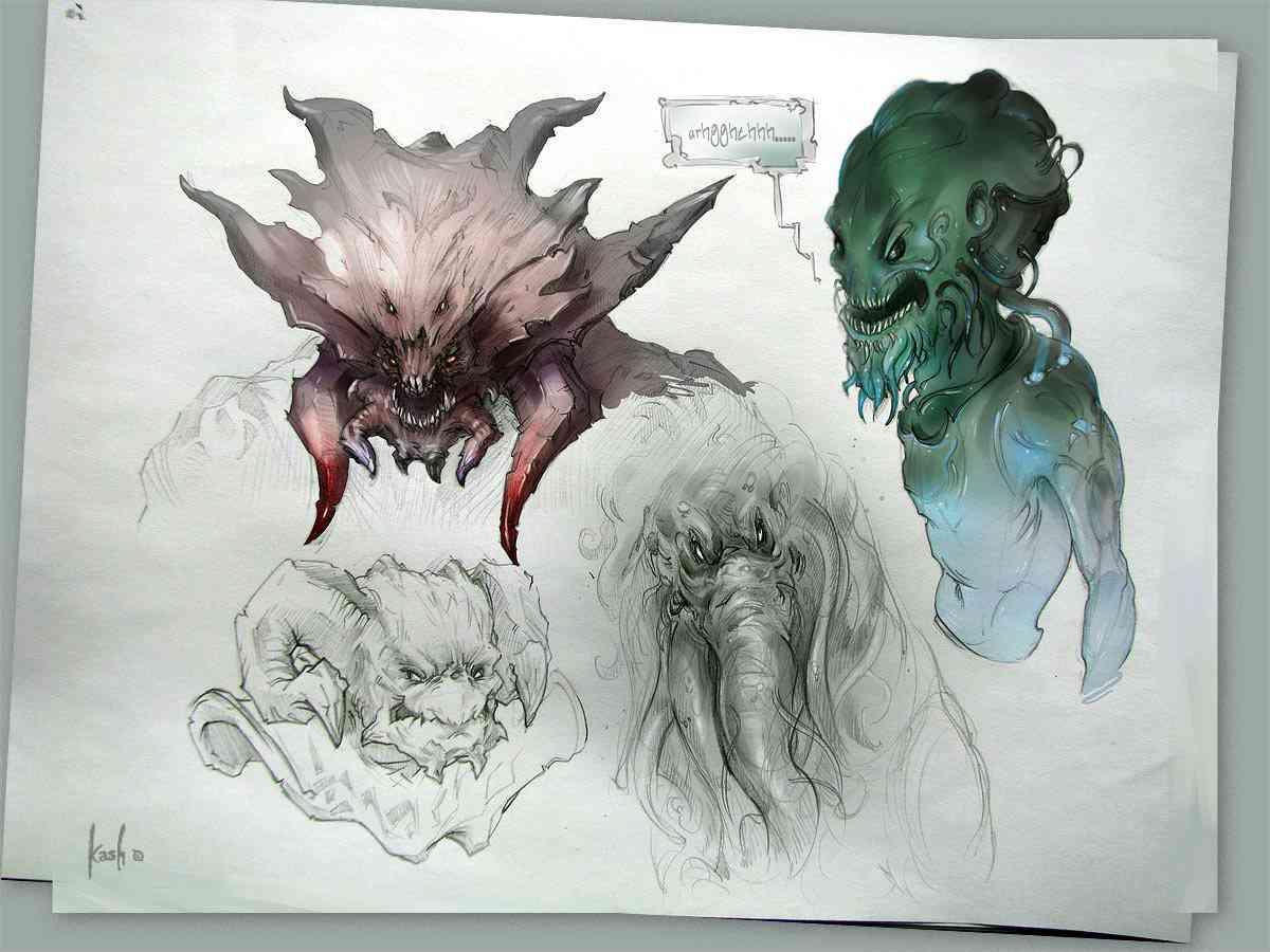 doodle monster  by kash  Ultra gump blaster mega pack ultimate post de monstros 4