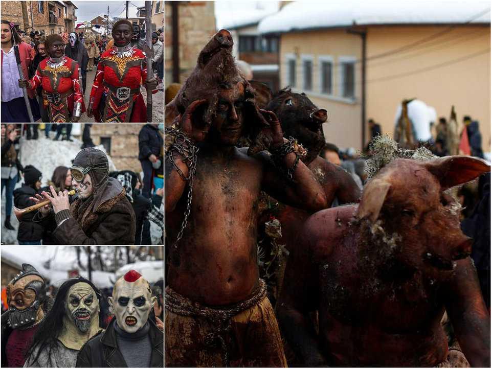 314c053dfee1 Carnaval peculiar da Macedônia lembra um pesadelo de entorpecentes