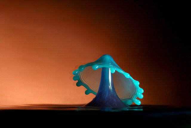 377608large blue mushroom A beleza da água numa fração de segundo