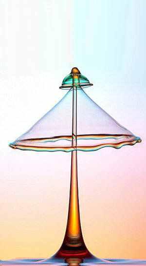 377608large vented umbrella A beleza da água numa fração de segundo