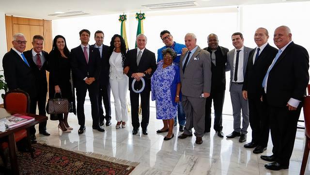 Pedro Paulo com o presidente Michel Temer em uma reunião no Palácio do Planalto