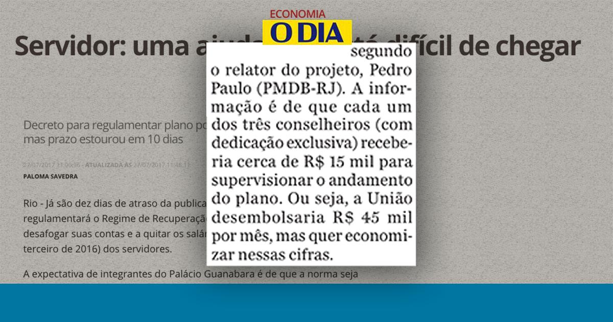 matéria do jornal O Globo