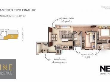 Foto 10 - Apartamento à Venda em Ponta Grossa, Oficinas, 2 quartos, Ref.: 96854-4 - ProcureImóvel