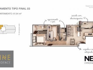 Foto 11 - Apartamento à Venda em Ponta Grossa, Oficinas, 2 quartos, Ref.: 96854-4 - ProcureImóvel