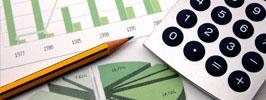 Calculadora, lápis e gráficos