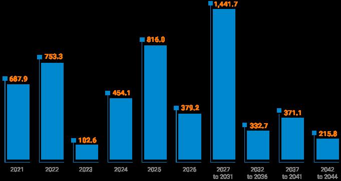 Gross Debt Amortization Schedule (BRL million)