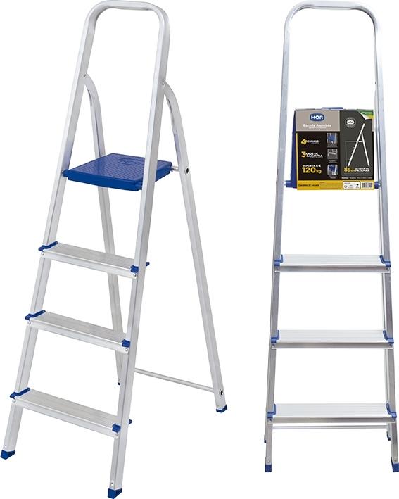 Escada de aluminio 4 degraus Mor