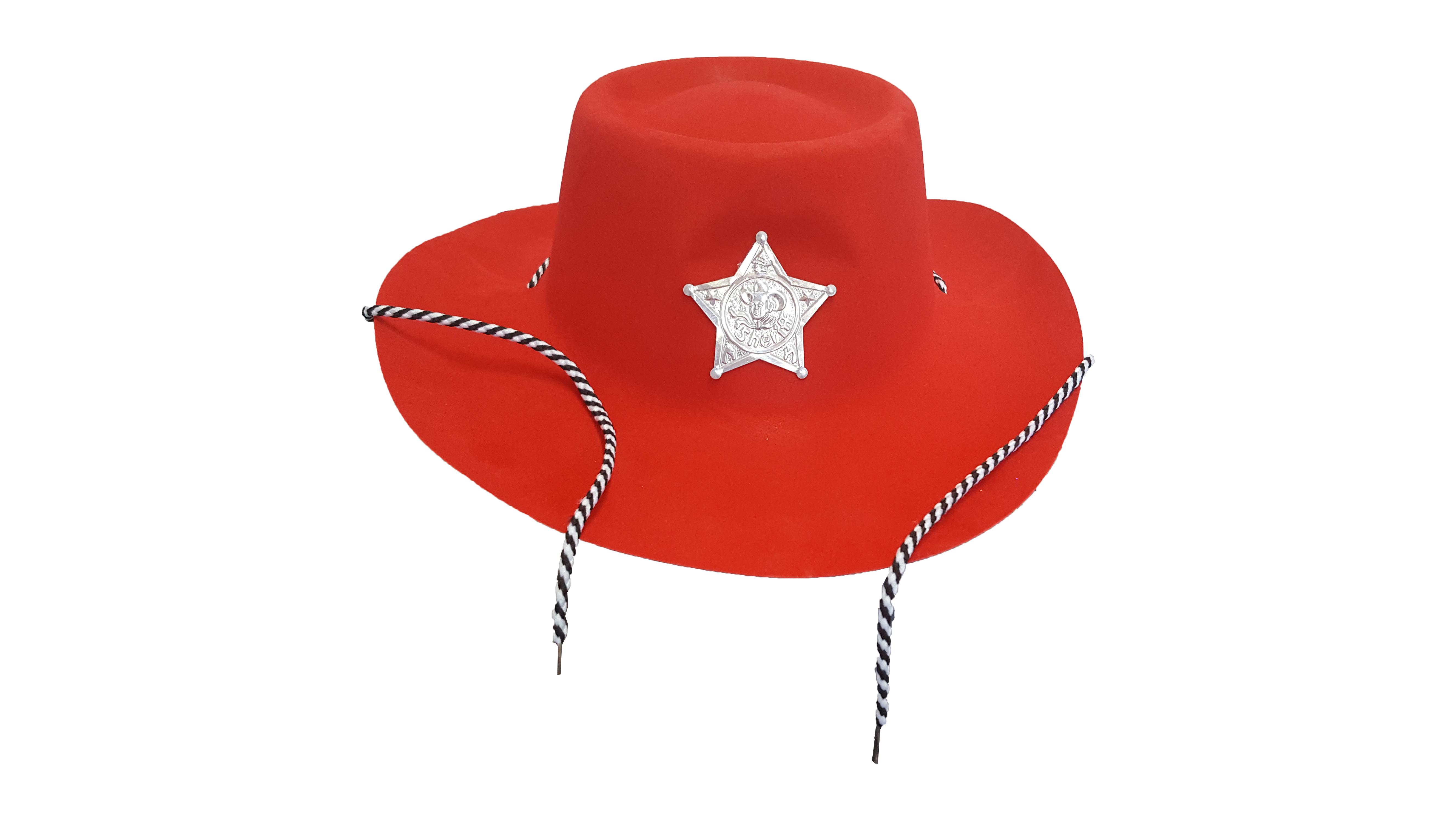 CHAPEU SHERIFF VERMELHO