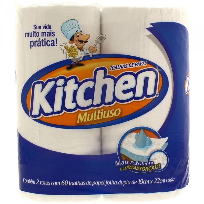 Papel toalha Kitchen decorado - 2 rolos 60 toalhas