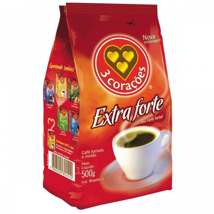 Cafe 3 coracoes vacuo extra forte 500g