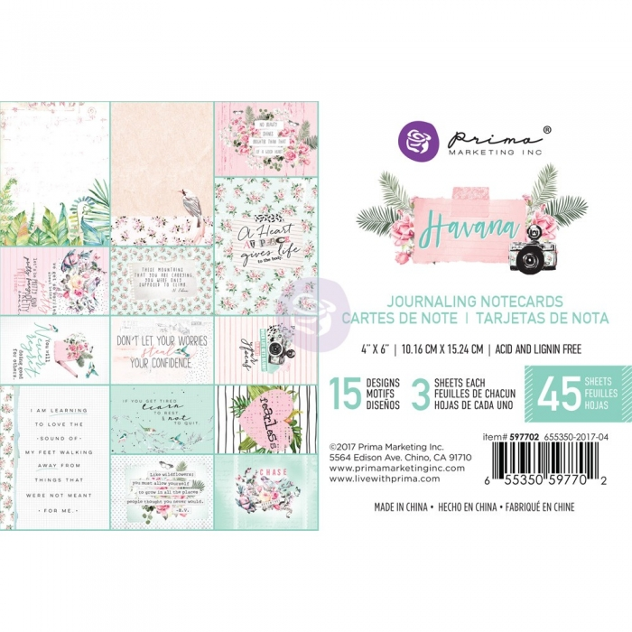 Havana Collection -  4X6 Journaling Cards