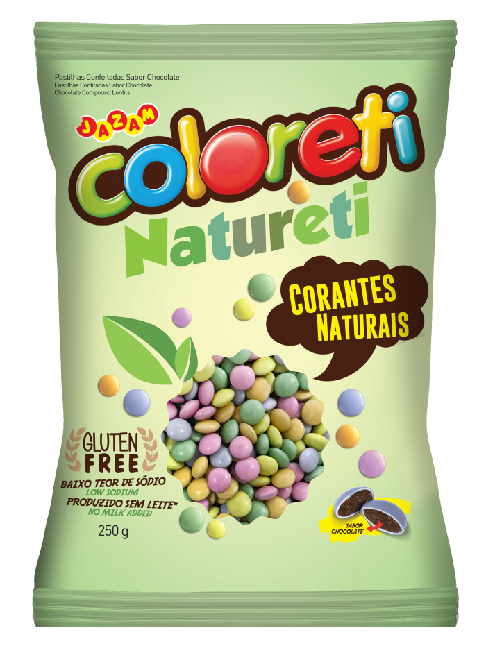 CONFETE NATURAL COLORIDO 250g