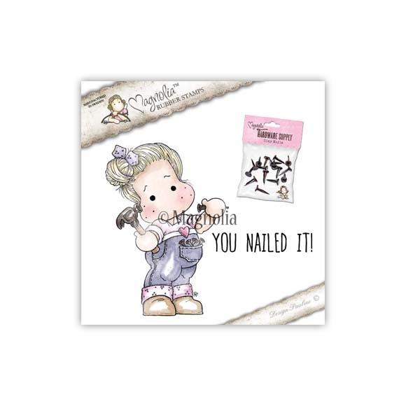 Carimbo Magnolia FU - You nailed it! Hammer Tilda & Hardware Supply Tiny Nails *Entrega Prevista Início Junho