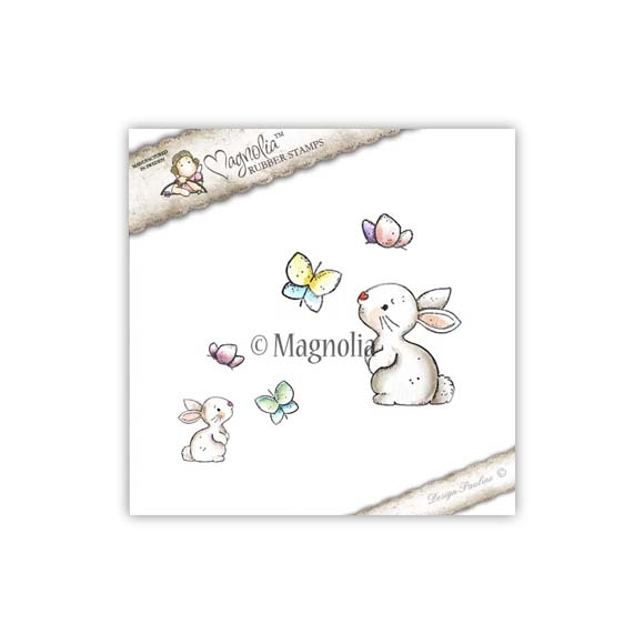 Carimbo Magnolia TW - Rabbit with Butterfly