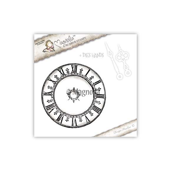 Carimbo Magnolia TW - Big Clock + Faca de Corte Ponteiros