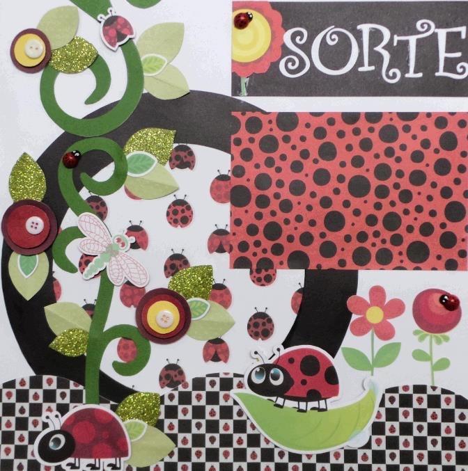 Página Scrapbook Joaninha