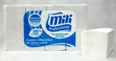 Papel interfolha Premium luxo  Mili 100% c/ 1000fls