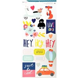 Lovely Day - Adesivos - W/ White Foil - American Crafts