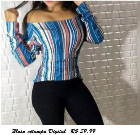 Blusa com Estampa Digital
