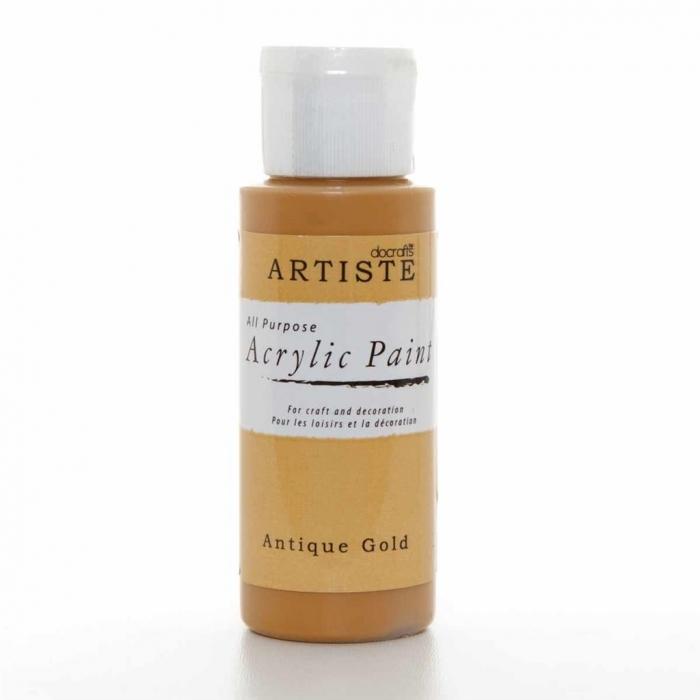 Tinta Acrílica Metálica Antique Gold - Artiste