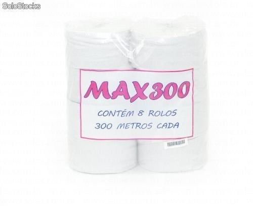 Papel higienico rolão branco Max 300