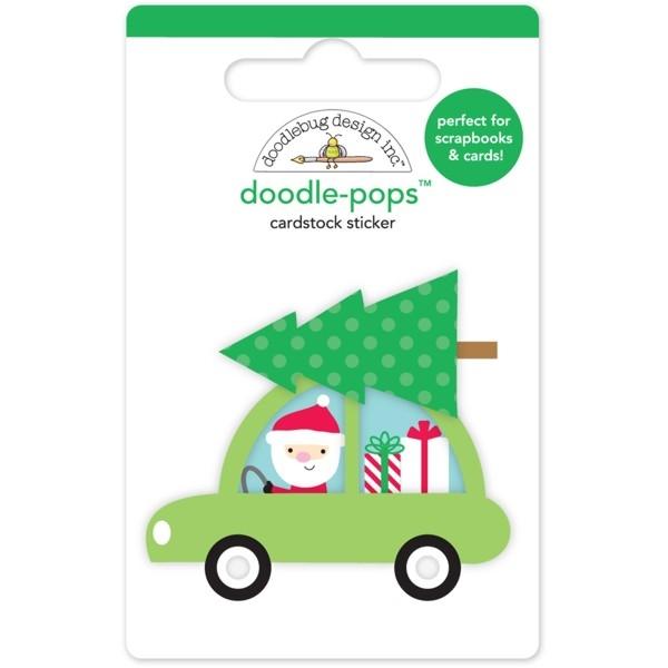 Doodle-Pops 3D Adesivo - Special Delivery - Here Comes Santa - Doodelebug