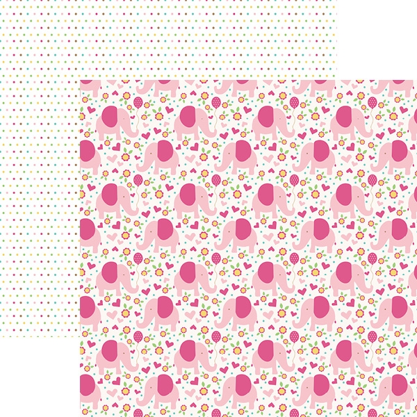 Hello Baby Rosa Pink Elephants - Papel - Paper House