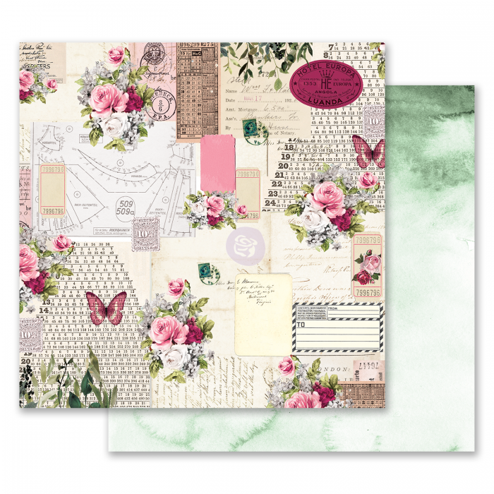 Misty Rose Collection - Papel Scented Love Letters - Prima Marketing