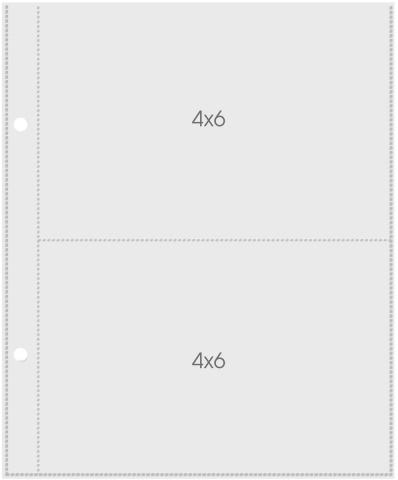 Sn@p Pocket Pages 4x6 - Refil Plástico P/ Álbum - Simple Stories