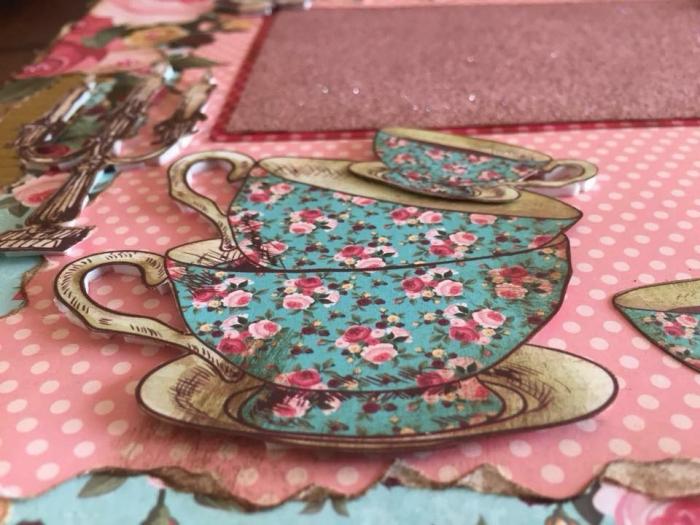 Página de Álbum Dupla - Tema: Hora do Chá