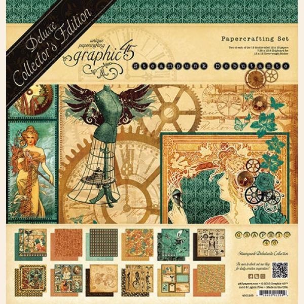 Graphic 45 Bloco de Papel - Steampunk Debutante - Deluxe Collector