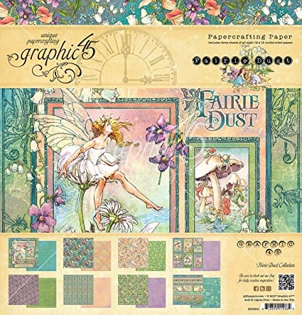 Graphic 45 Bloco de Papel - Fairie Dust - 30,5 x 30,5