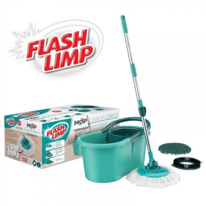 Mop giratorio 3 em 1 Flashlimp