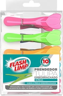 Prendedor tulipa emborrachado 10pc Flashlimp