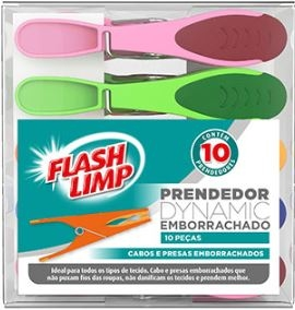 Prendedor dynamic emborrachado 10pcs Flashlimp