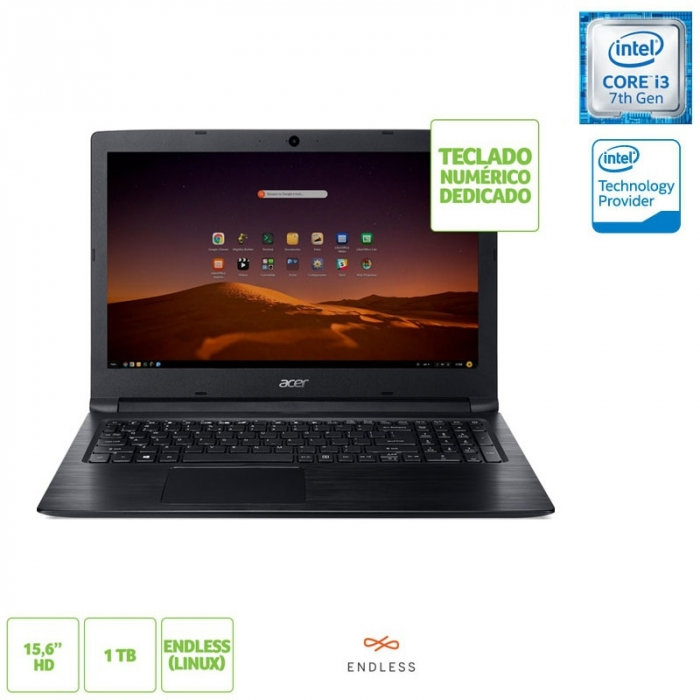 NOTE ACER A315 15 I3 4GB 1TB LINUX PTO