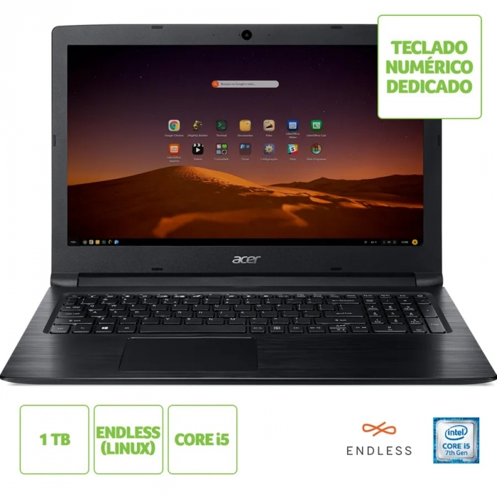NOTE ACER A315 15 I5 4GB 1TB LINUX PTO
