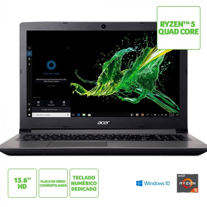 NOTE ACER A315 AMD QUAD 15 12GB 1TB W10