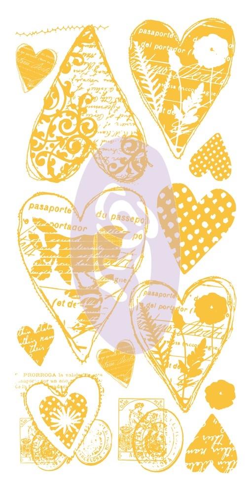 Decalque Corações - Rub-On