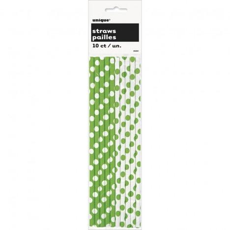 Canudo de Papel Verde Poá